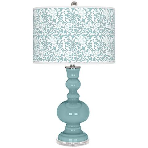 Raindrop Gardenia Apothecary Table Lamp