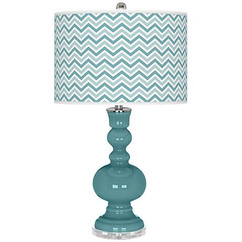 Reflecting Pool Narrow Zig Zag Apothecary Table Lamp