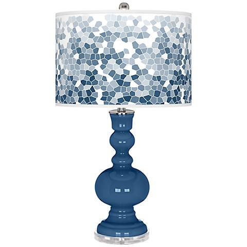 Regatta Blue Mosaic Giclee Apothecary Table Lamp