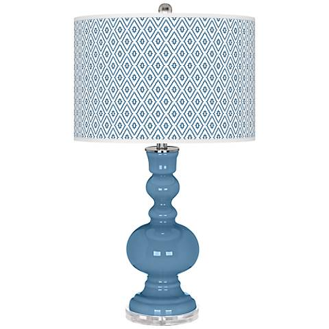 Secure Blue Diamonds Apothecary Table Lamp