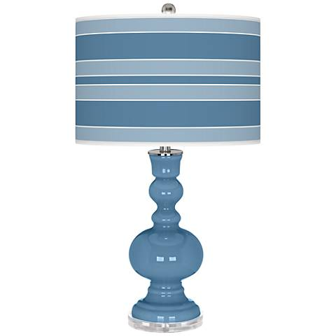 Secure Blue Bold Stripe Apothecary Table Lamp