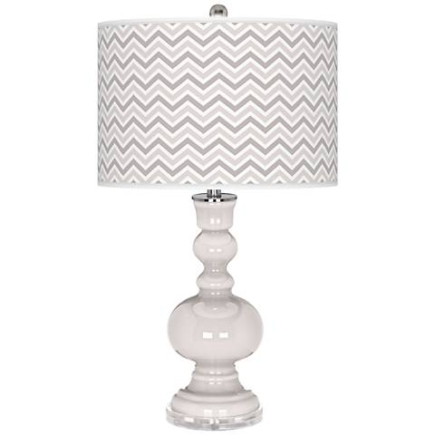 Smart White Narrow Zig Zag Apothecary Table Lamp