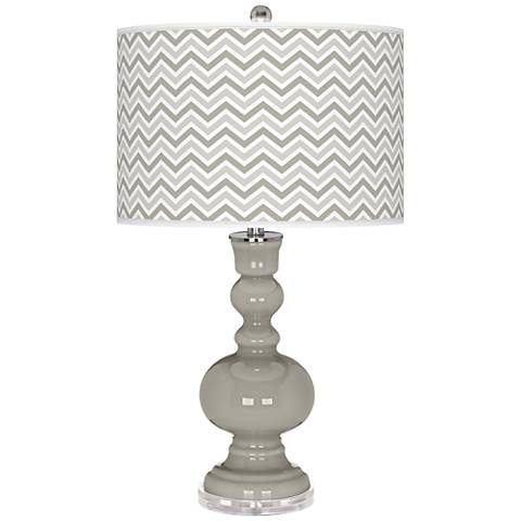 Requisite Gray Narrow Zig Zag Apothecary Table Lamp