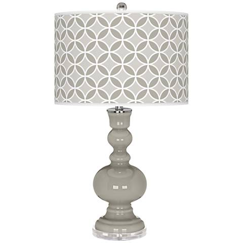 Requisite Gray Circle Rings Apothecary Table Lamp