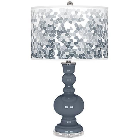 Granite Peak Mosaic Giclee Apothecary Table Lamp
