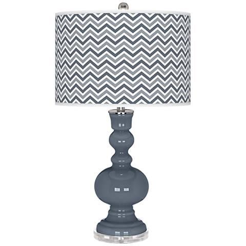 Granite Peak Narrow Zig Zag Apothecary Table Lamp