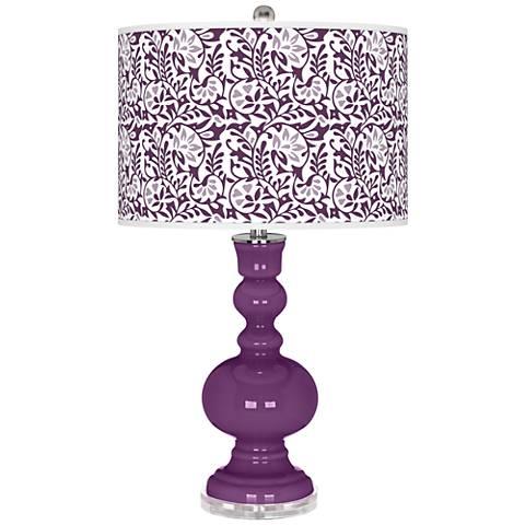 Kimono Violet Gardenia Apothecary Table Lamp