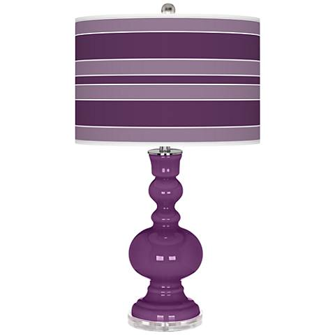 Kimono Violet Bold Stripe Apothecary Table Lamp