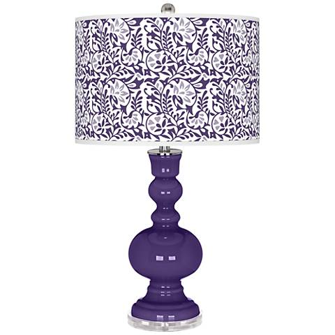 Izmir Purple Gardenia Apothecary Table Lamp