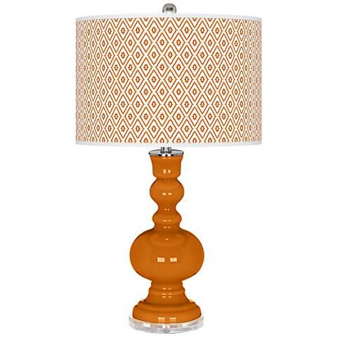 Cinnamon Spice Diamonds Apothecary Table Lamp