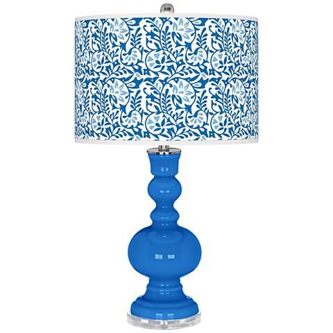 Royal Blue Gardenia Apothecary Table Lamp