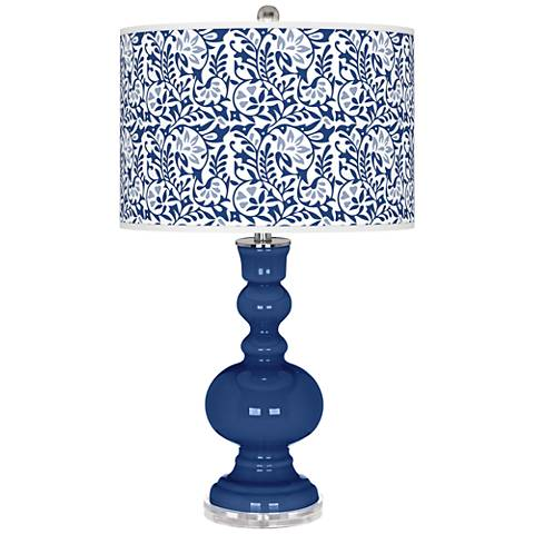 Monaco Blue Gardenia Apothecary Table Lamp