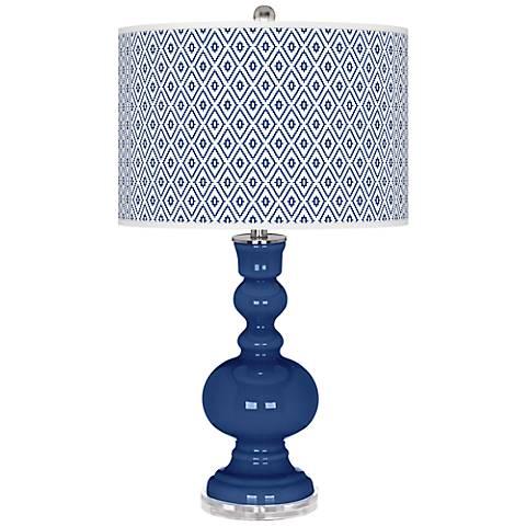 Monaco Blue Diamonds Apothecary Table Lamp