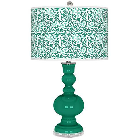 Leaf Gardenia Apothecary Table Lamp