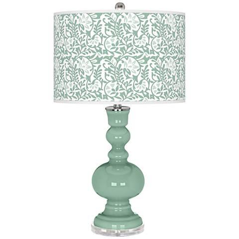 Grayed Jade Gardenia Apothecary Table Lamp