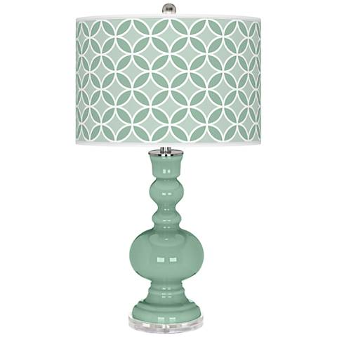 Grayed Jade Circle Rings Apothecary Table Lamp