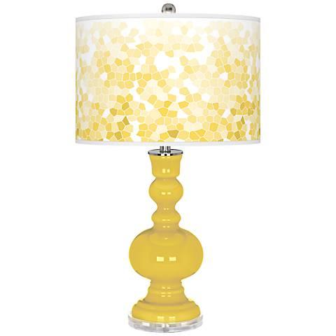 Lemon Zest Mosaic Giclee Apothecary Table Lamp