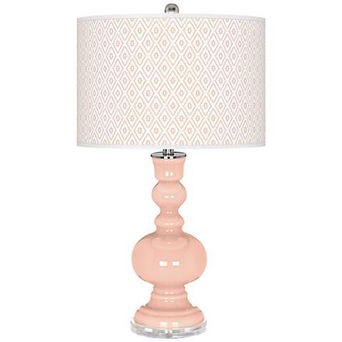 Linen Diamonds Apothecary Table Lamp