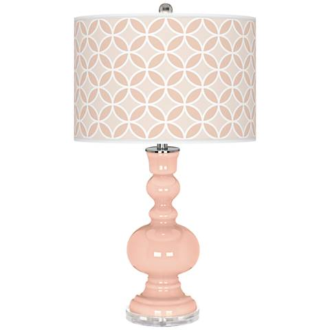 Linen Circle Rings Apothecary Table Lamp