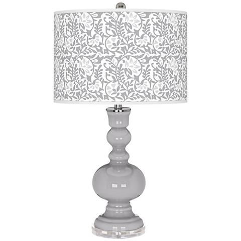 Swanky Gray Gardenia Apothecary Table Lamp