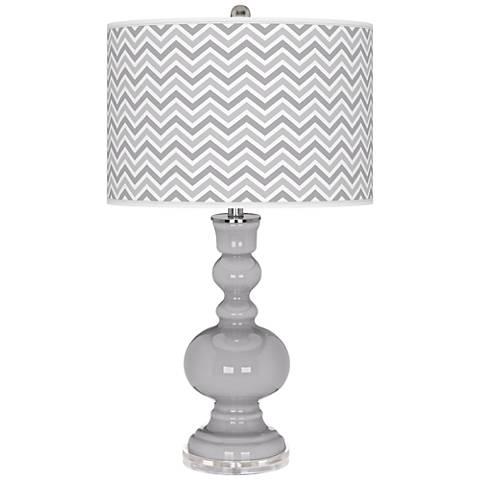 Swanky Gray Narrow Zig Zag Apothecary Table Lamp