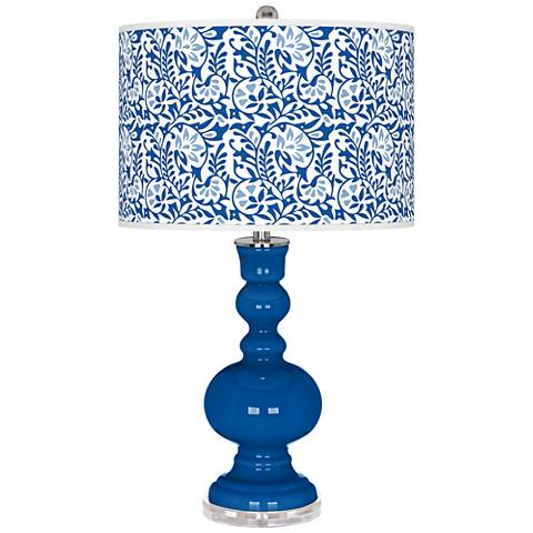 Hyper Blue Gardenia Apothecary Table Lamp