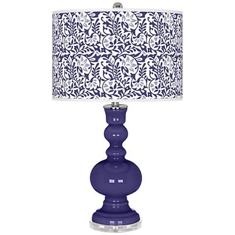 Valiant Violet Gardenia Apothecary Table Lamp