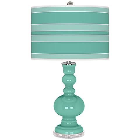 Larchmere Bold Stripe Apothecary Table Lamp