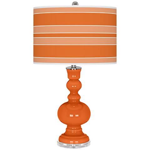 Invigorate Bold Stripe Apothecary Table Lamp