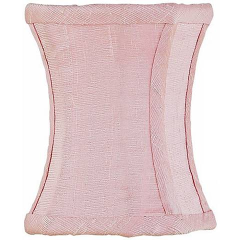Pink Hourglass Silk Shade 3.25x3.25x5 (Clip-On)