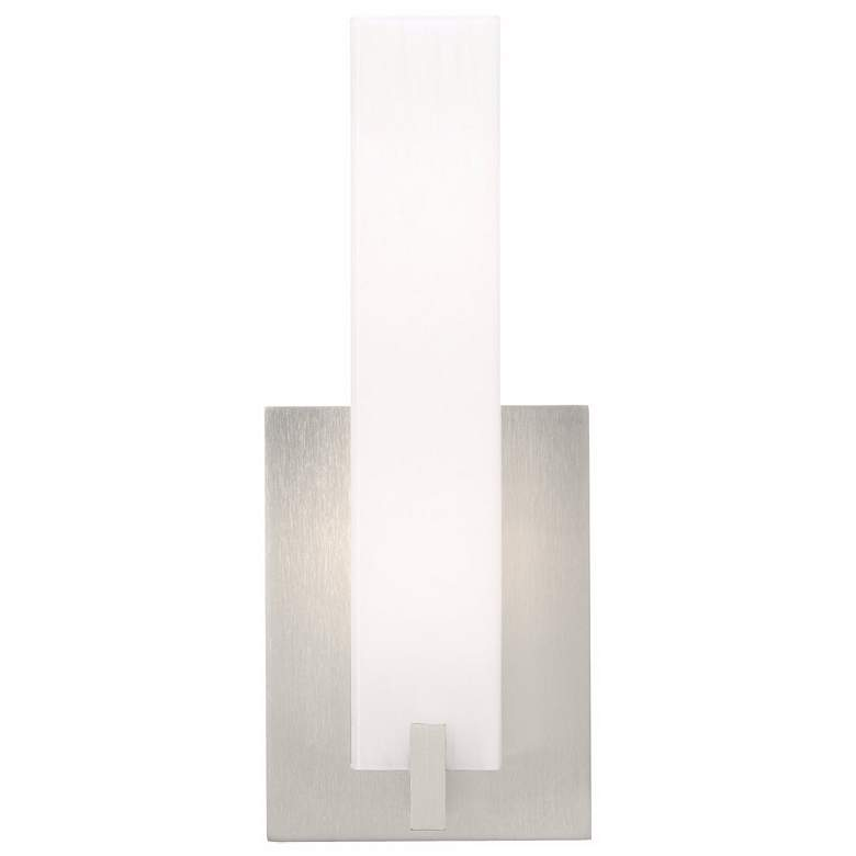 """Cosmo 12"""" High Satin Nickel and Acrylic Lens LED Wall Sconce"""