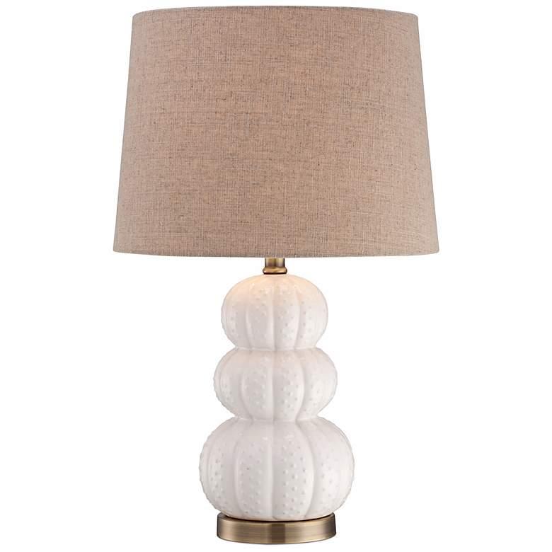 Ceramic Sea Urchin White Table Lamp