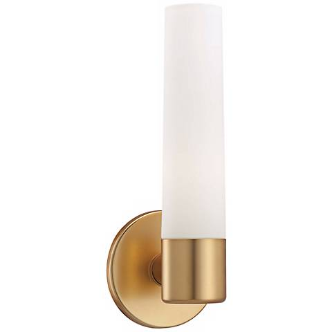"George Kovacs Gold 12 1/2"" High Wall Sconce"