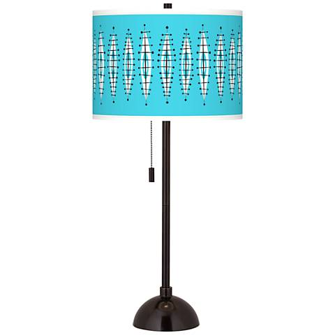 Vibraphonic Bounce Giclee Glow Tiger Bronze Club Table Lamp