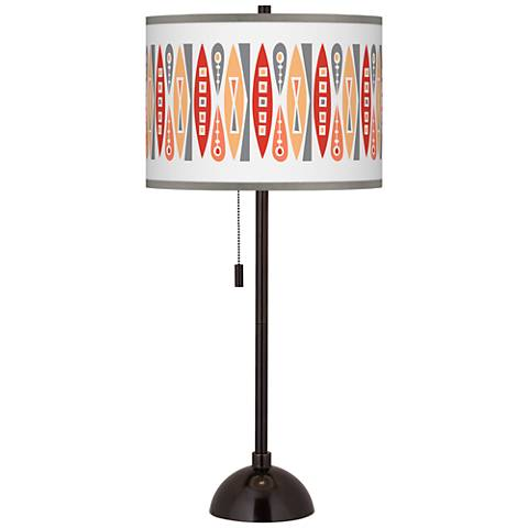 Vernaculis VI Giclee Glow Tiger Bronze Club Table Lamp