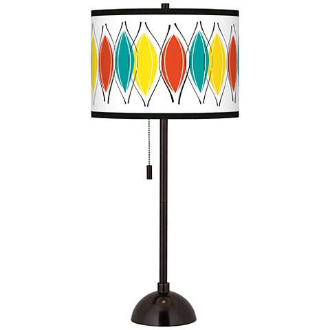 Harmonium Giclee Glow Tiger Bronze Club Table Lamp