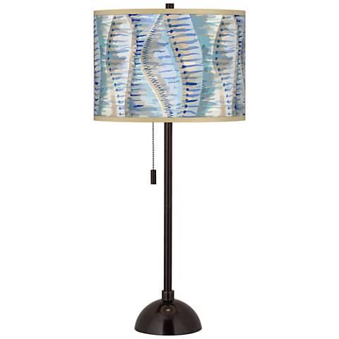 Siren Giclee Glow Tiger Bronze Club Table Lamp