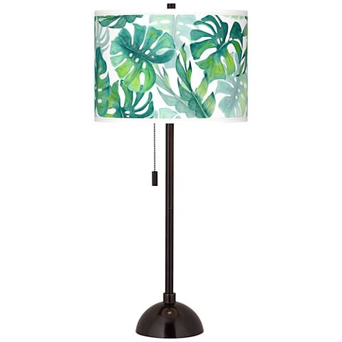 Tropica Giclee Glow Tiger Bronze Club Table Lamp
