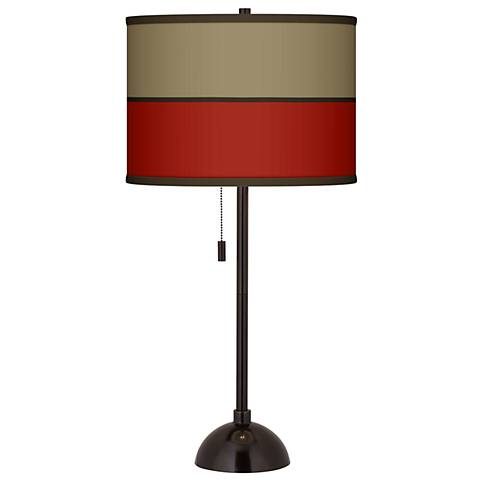 Empire Red Giclee Glow Tiger Bronze Club Table Lamp