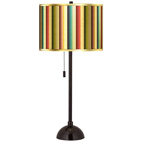 Technocolors Gold Metallic Tiger Bronze Club Table Lamp