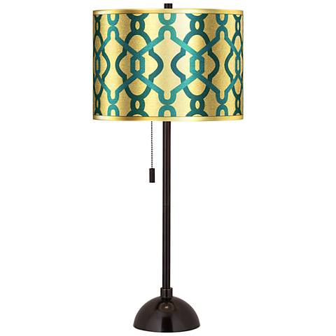 Hyper Links Gold Metallic  Tiger Bronze Club Table Lamp
