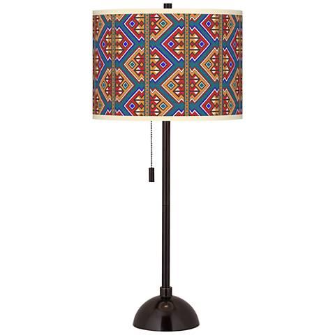 Rich Bohemian Giclee Glow Tiger Bronze Club Table Lamp