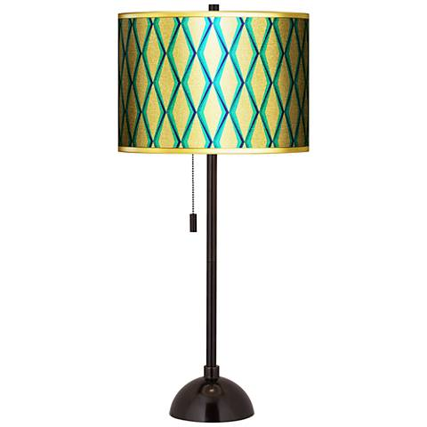 Matrix Gold Metallic Giclee Tiger Bronze Club Table Lamp