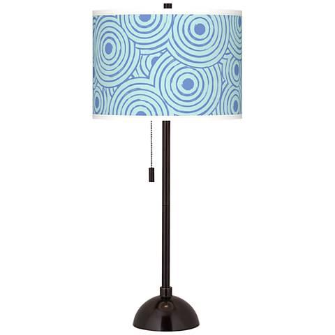 Circle Daze Giclee Glow Tiger Bronze Club Table Lamp