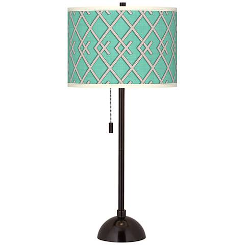 Crossings Giclee Glow Tiger Bronze Club Table Lamp
