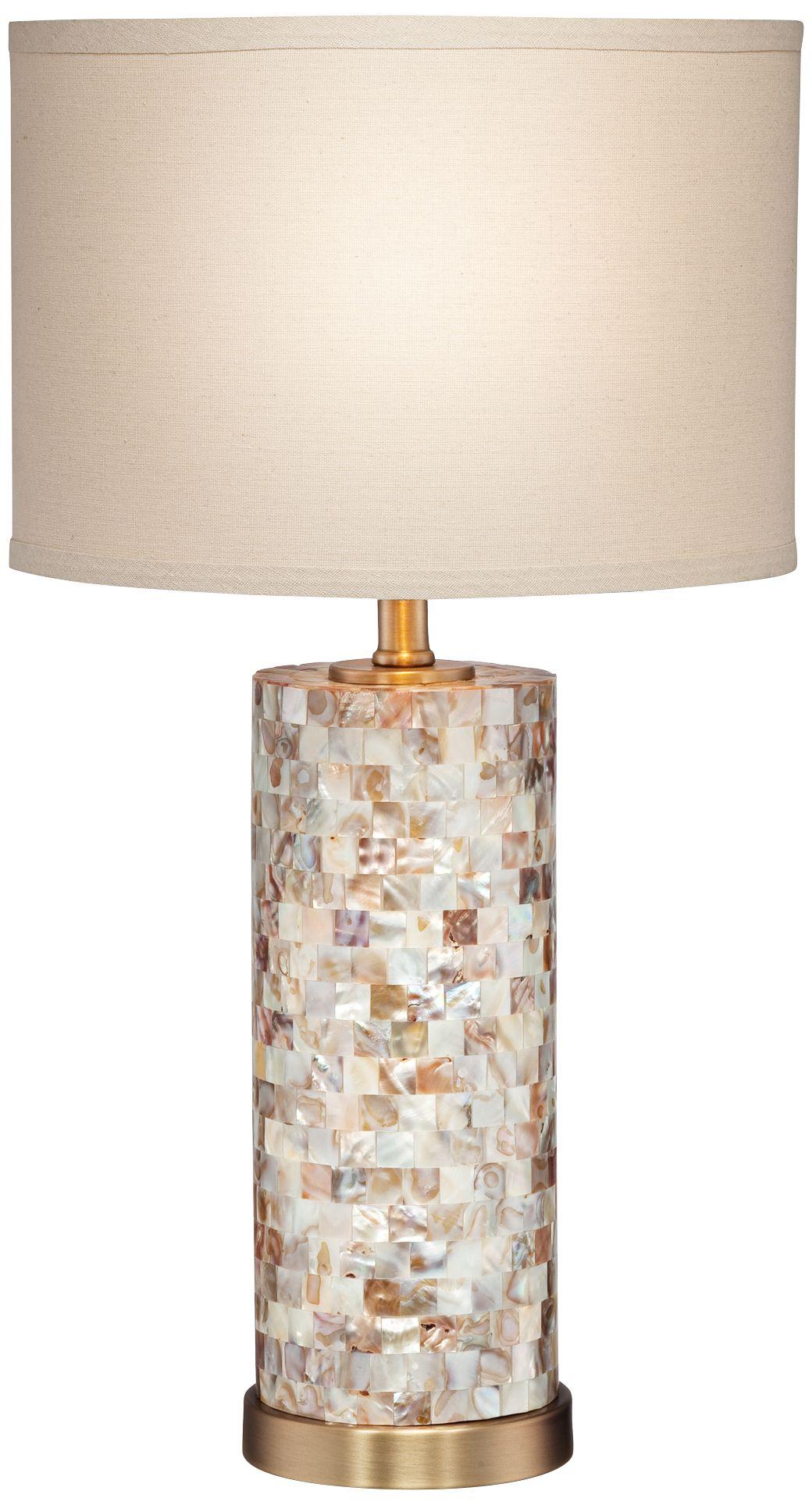 Margaret Mother Of Pearl Tile Cylinder Table Lamp