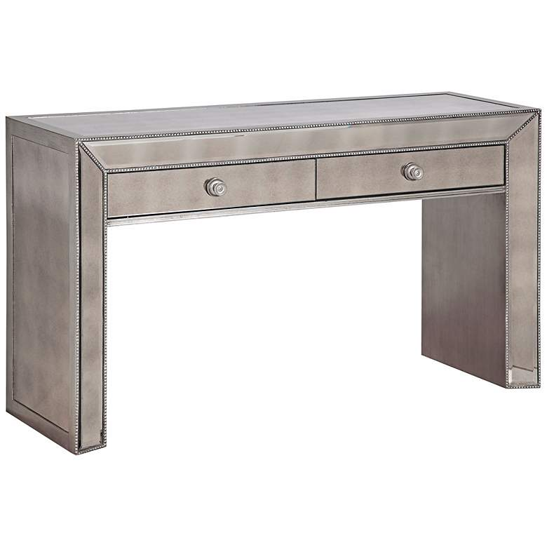 "Murano 61"" Wide 2-Drawer Mirrored Console Table"