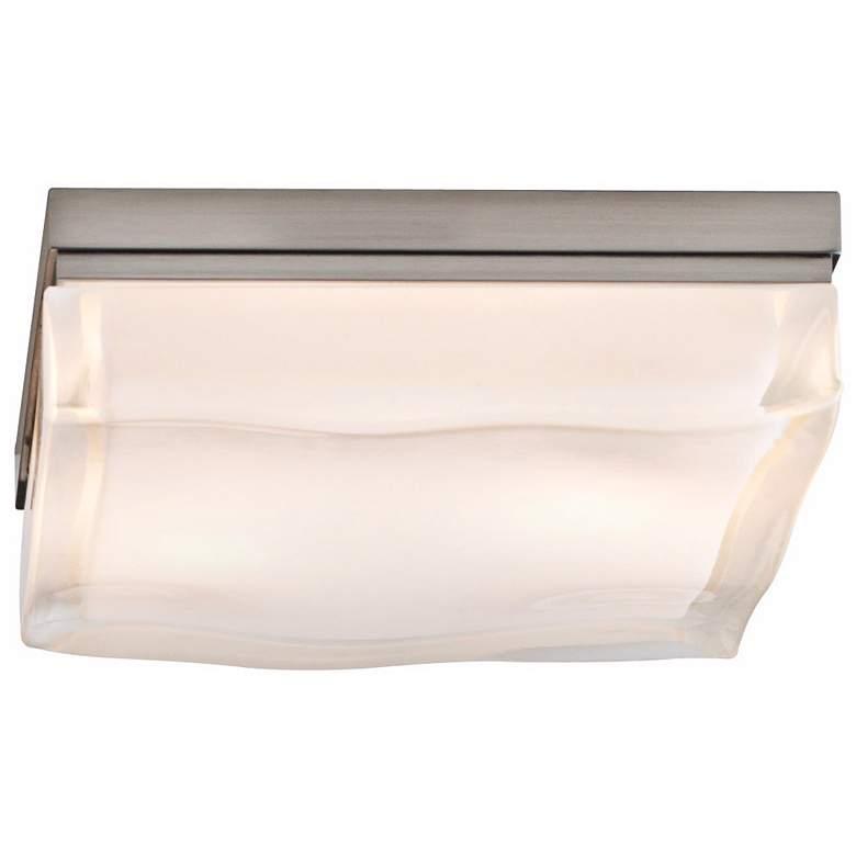 "Tech Lighting Fluid Nickel 9"" Square Ceiling Light"
