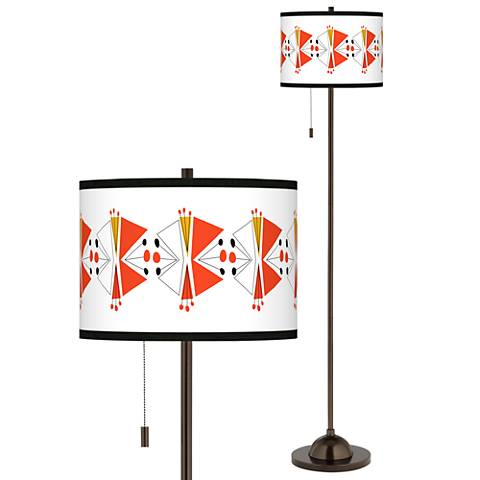 Lexiconic III Giclee Glow Bronze Club Floor Lamp