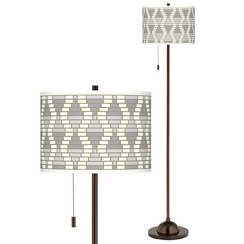 Stepping Out Giclee Glow Bronze Club Floor Lamp